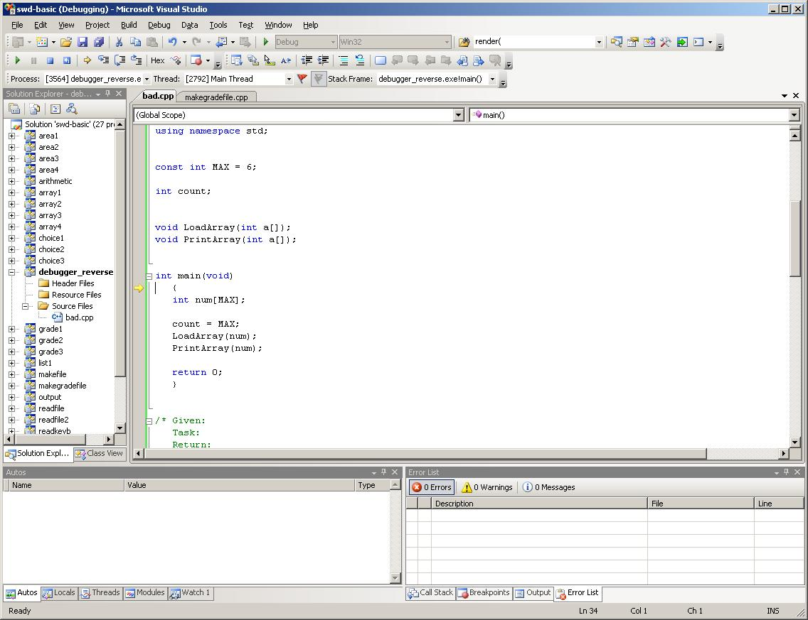 how to run ac program in visual studio